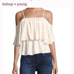 Bishop + Young Cold Shouler Floral Top